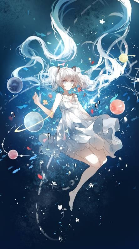space anime girl