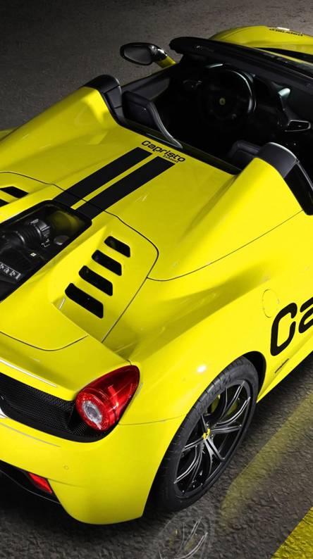 yellow roadster