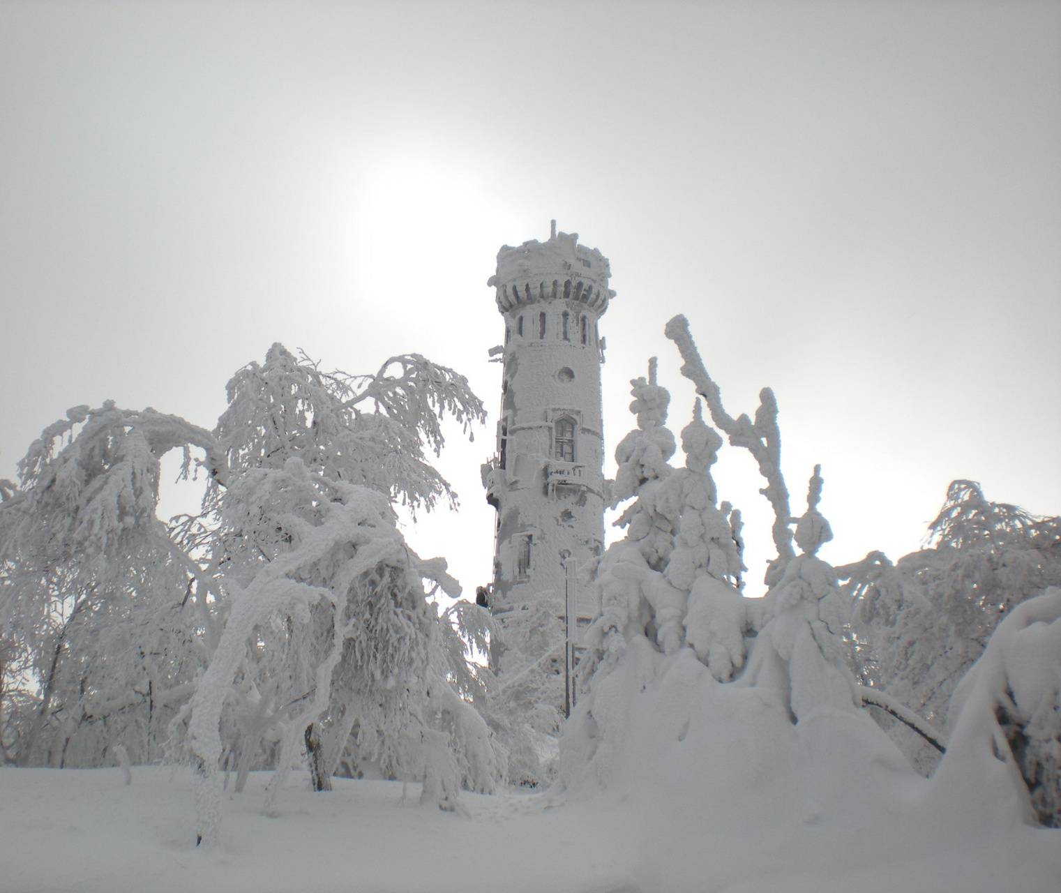 tower and snow