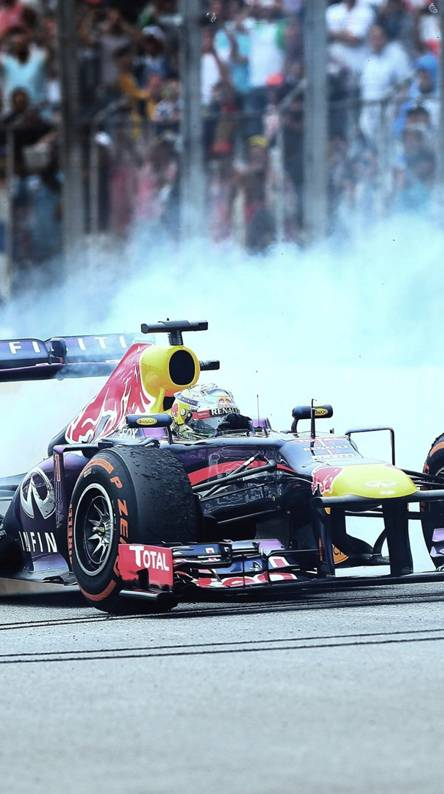 Vettel Burnout