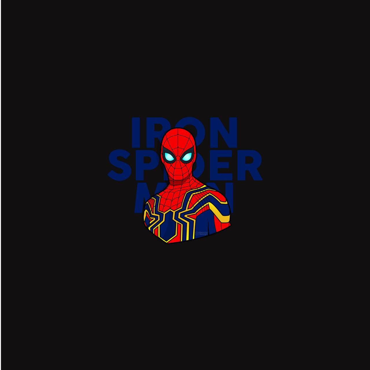 Iron Spider Man Blue
