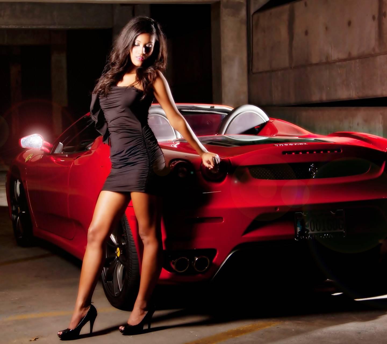 Girl With Ferrari