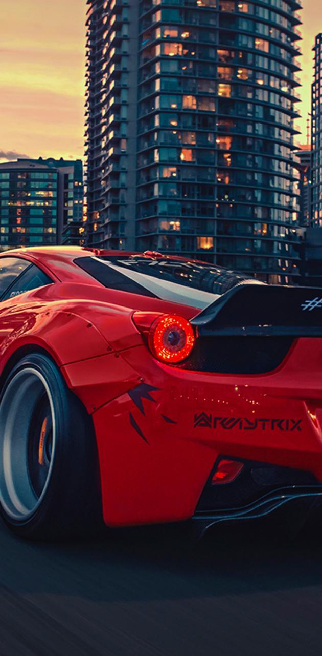 Ferrari 458 red hd