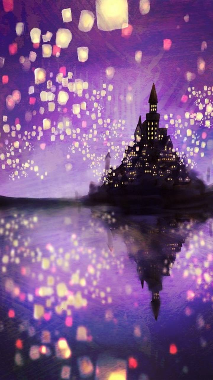 Tangled Lanterns wallpaper by SayaDiva