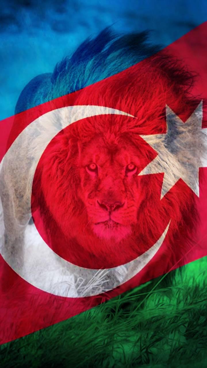 Azerbaijan Flag Lion