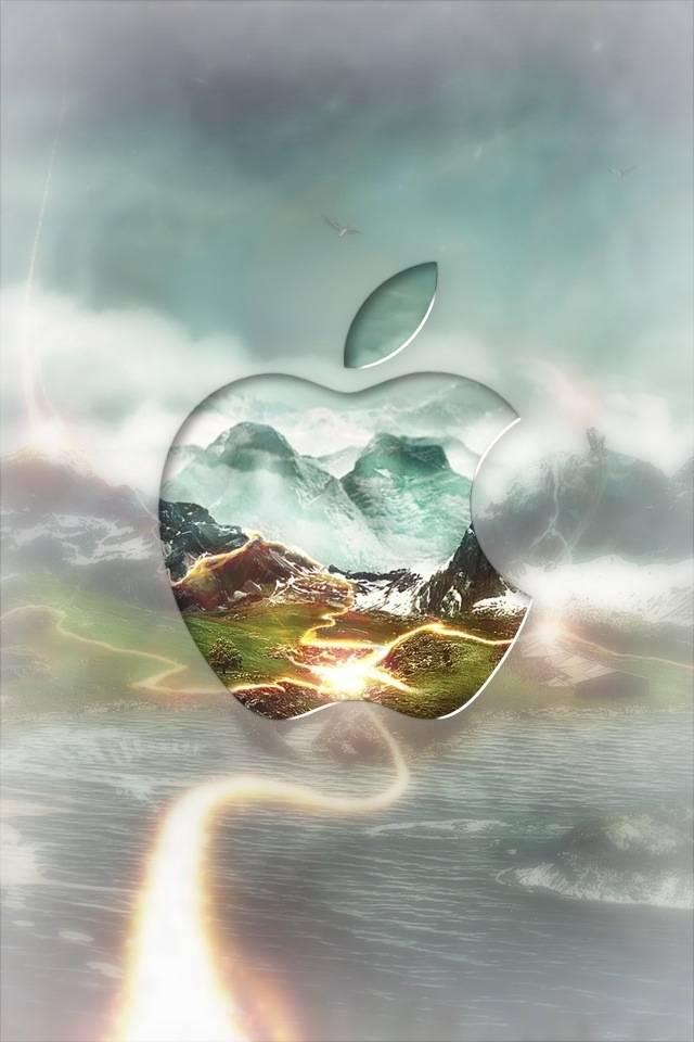 Apple Logo Earth