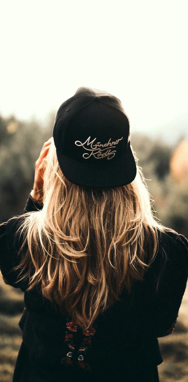 Blonde girl cap