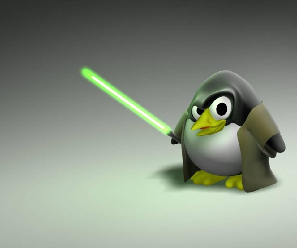 3D Penguin Jedi