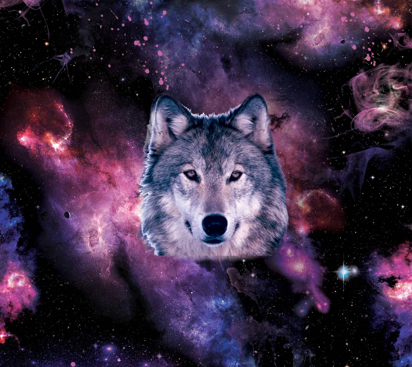 Wolf Iphone Wallpaper: Galaxy Wolf Wallpaper By Rejepo