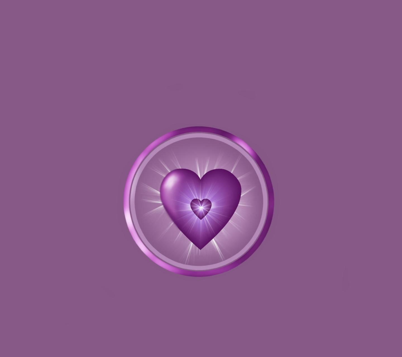 Shining Purple Heart