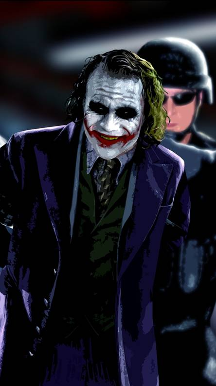 Joker and police