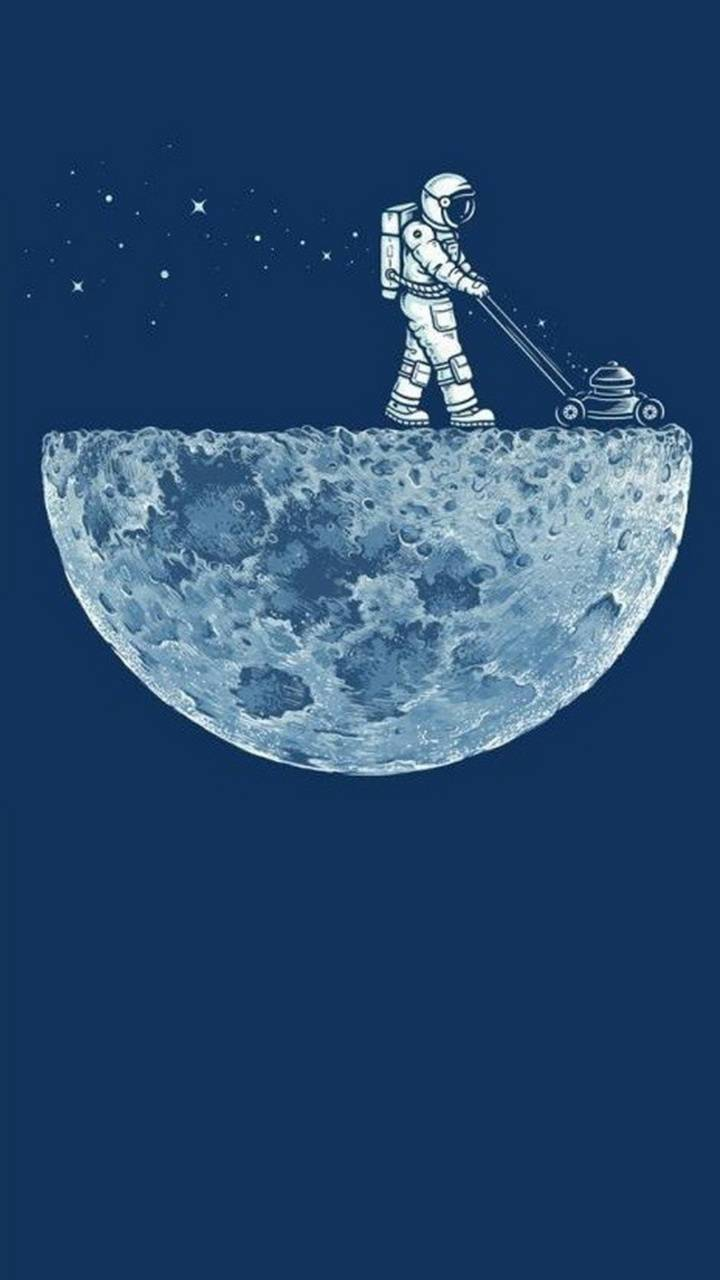 Funny Astronaut Plow