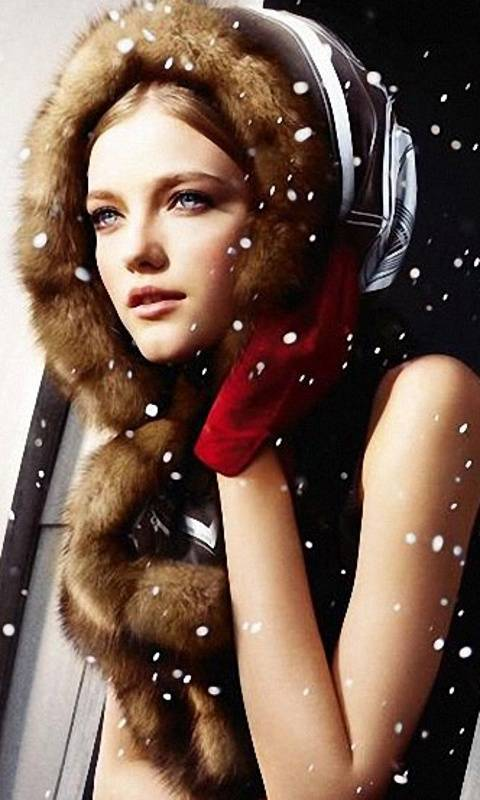 Pretty Girl In Snow