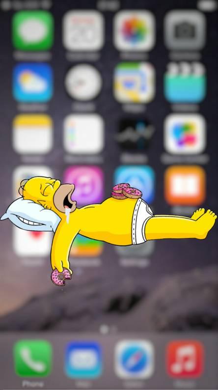 Homer is sleeping