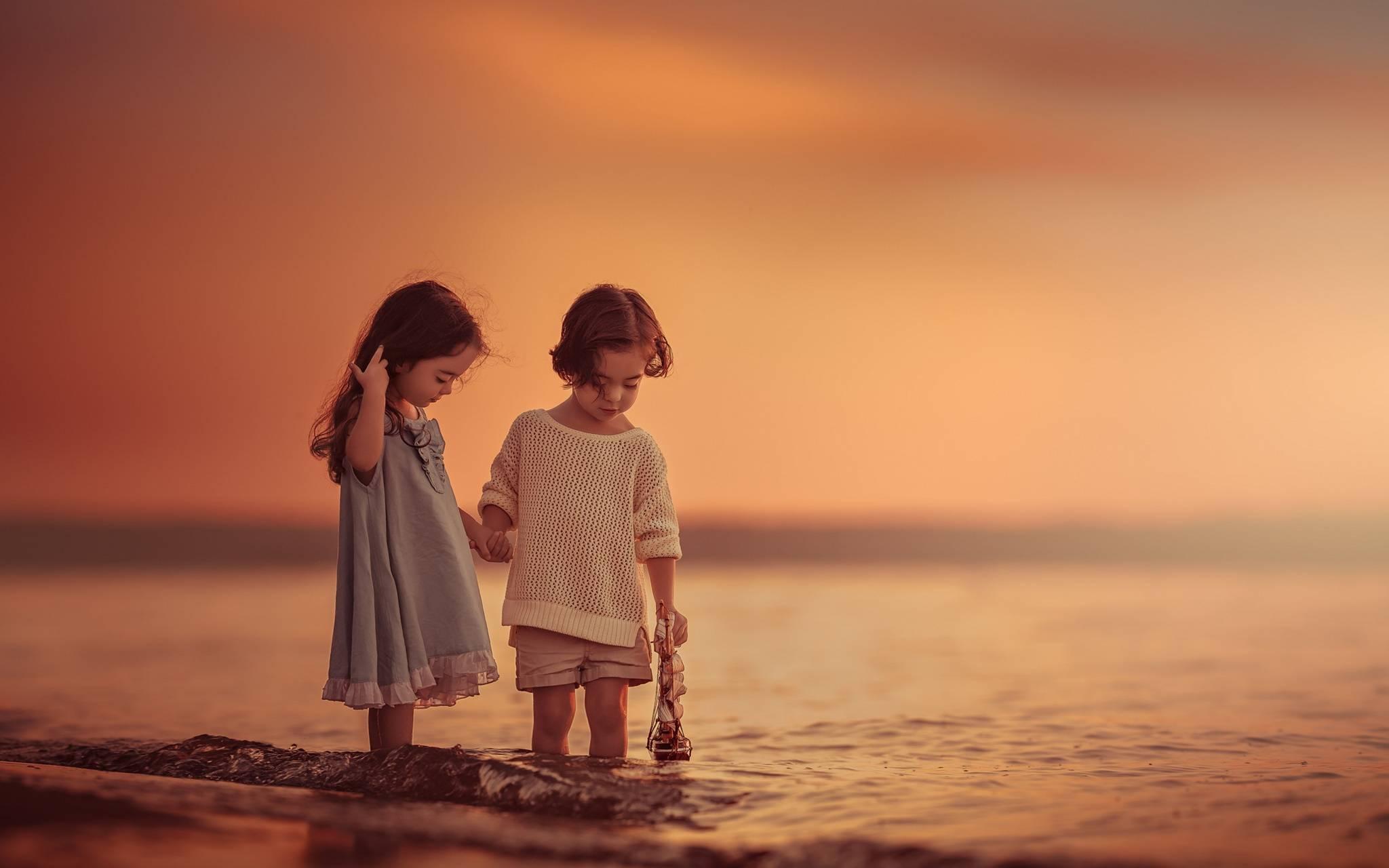 Sea Sunset children