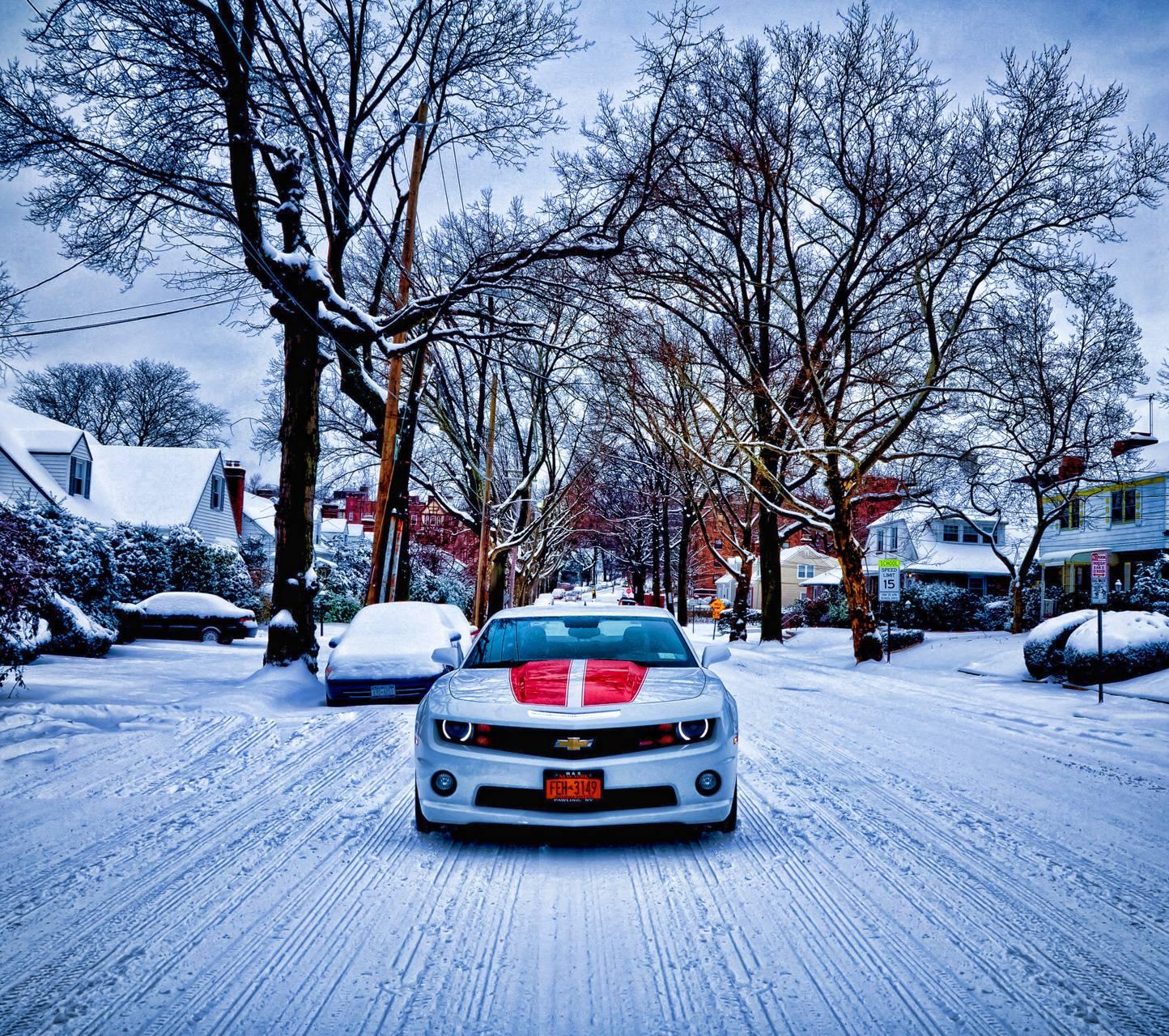 Snow Storm Camaro