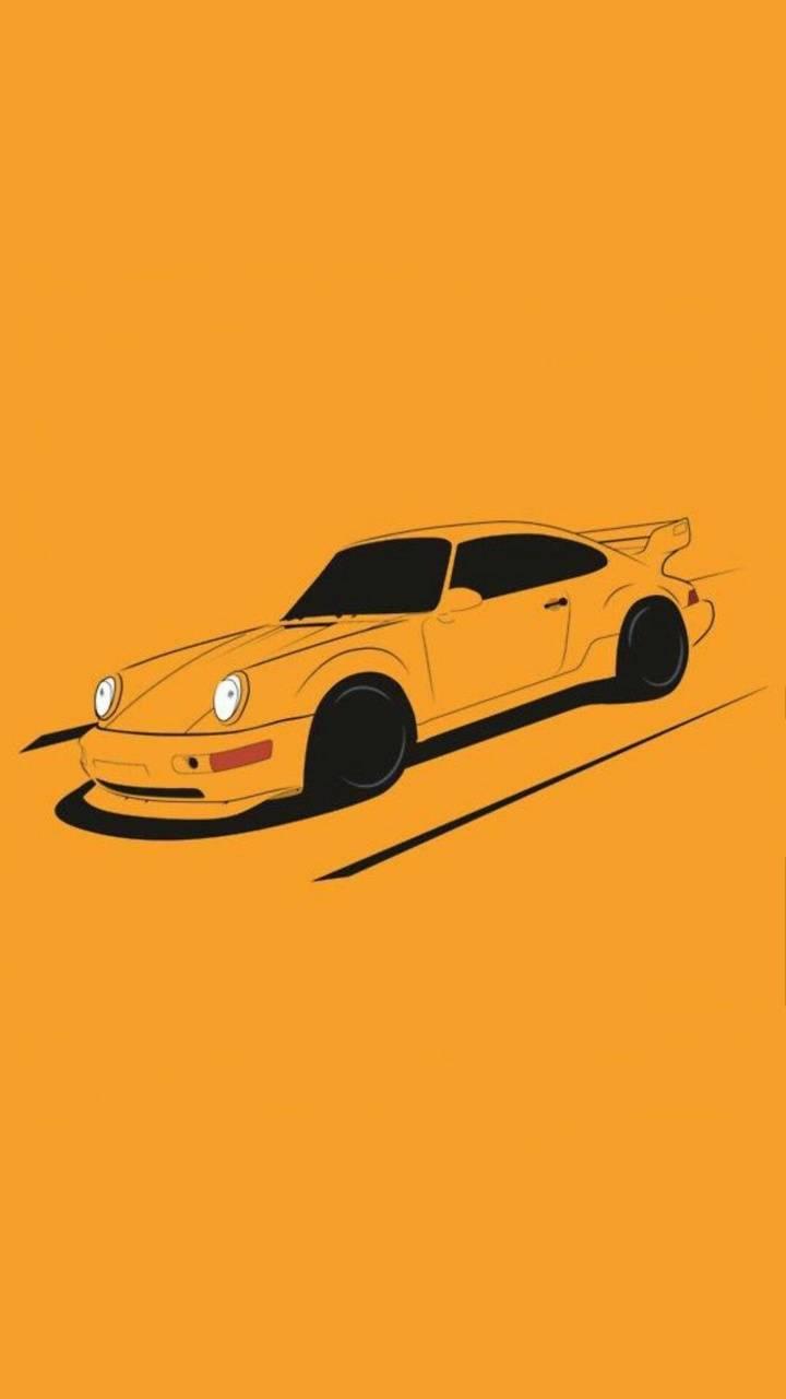 Yellow car wall