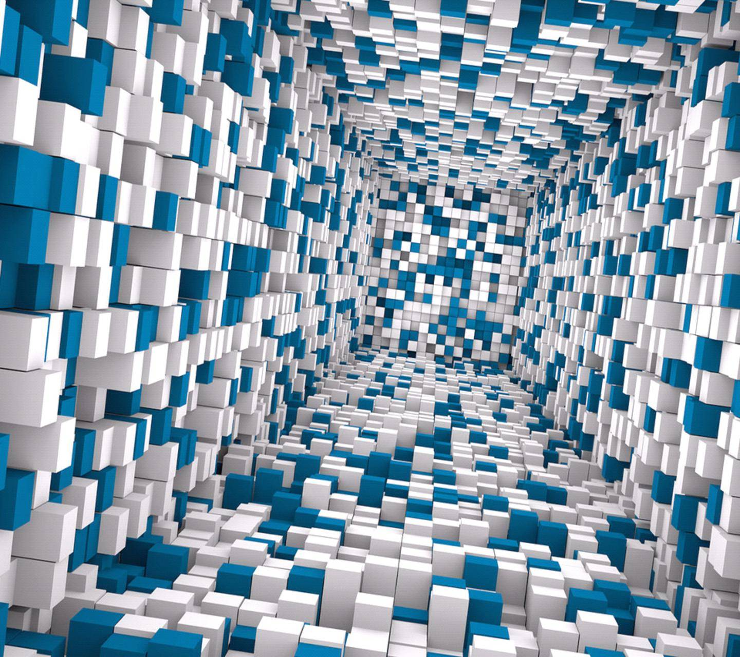3d Tunnel Cubes