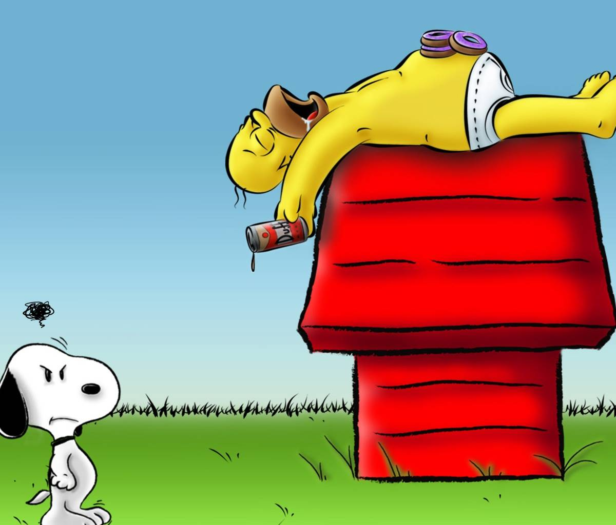 Homer And Snoopy