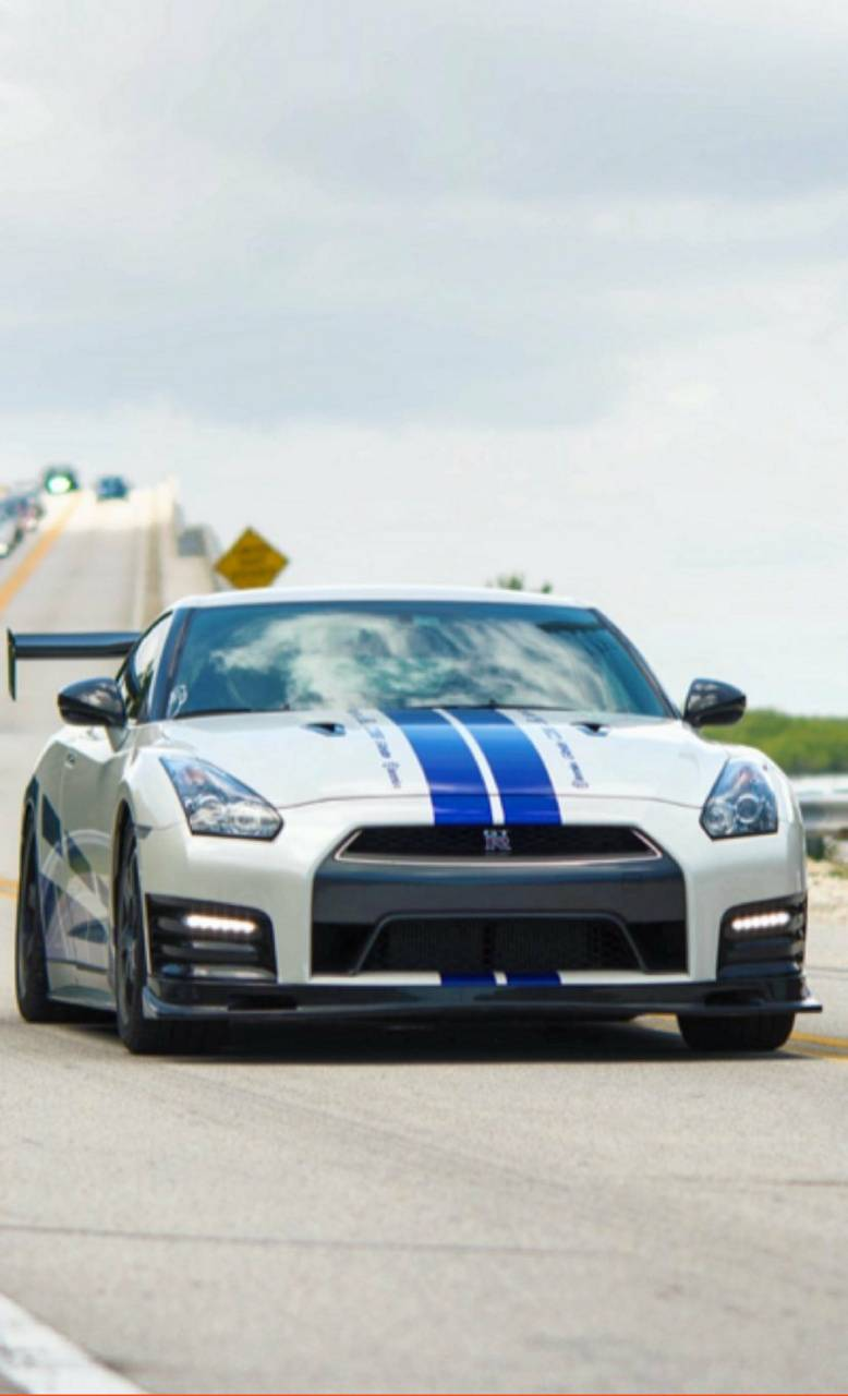 White and blue gtr