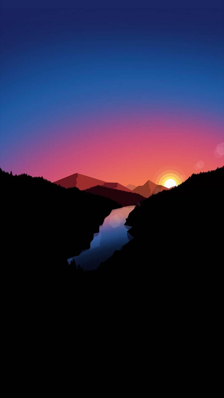 Minimal sunrise