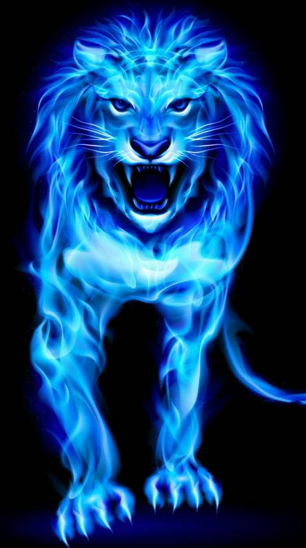 Lion Blue Ringtones And Wallpapers Free By Zedge