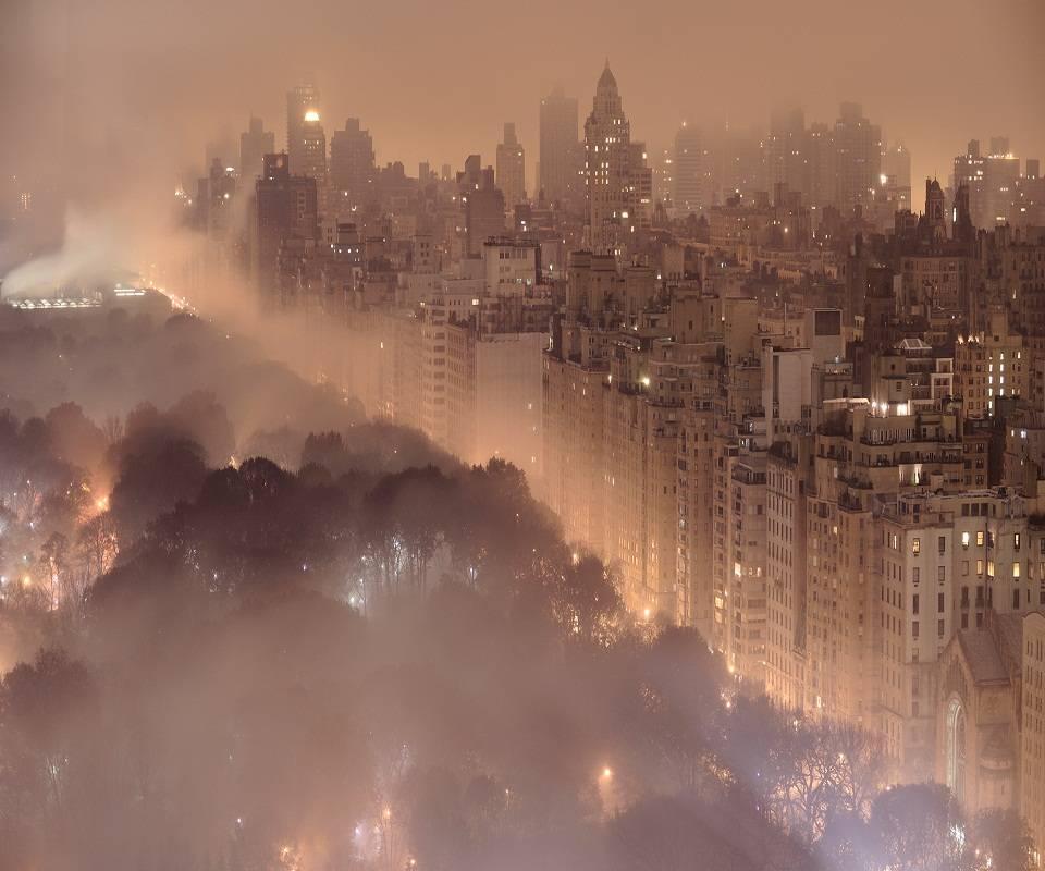 New York In Fog