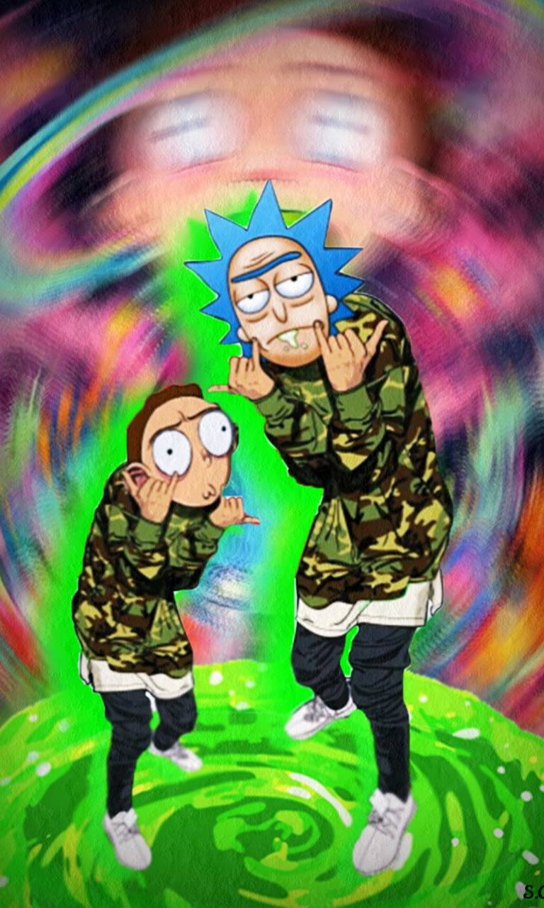 Rick And Morty Tripy Wallpaper By Sgomez12 6c Free On Zedge