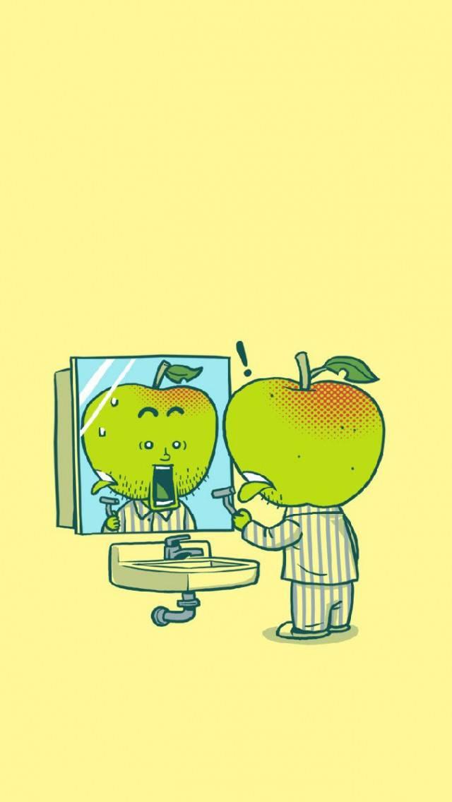 Apple Shaving Funny