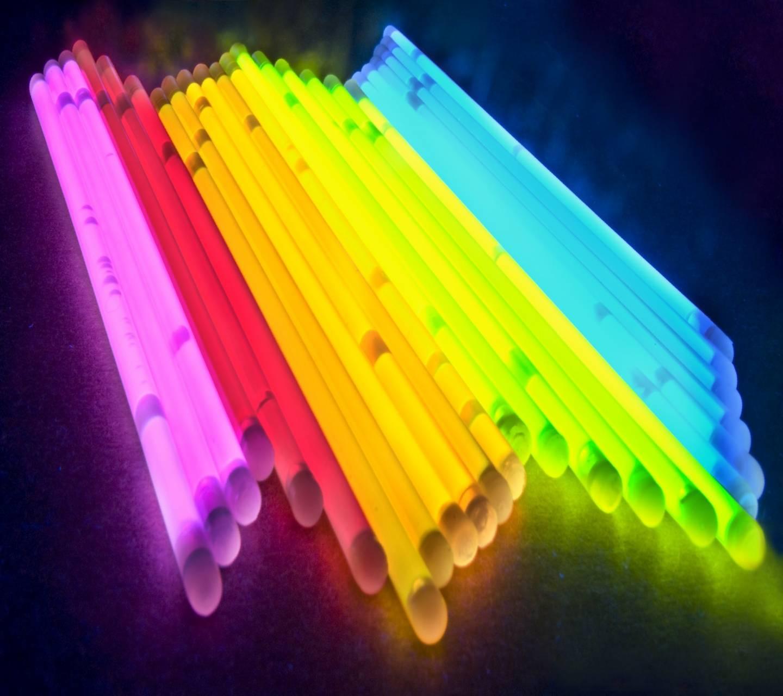 glowing sticks