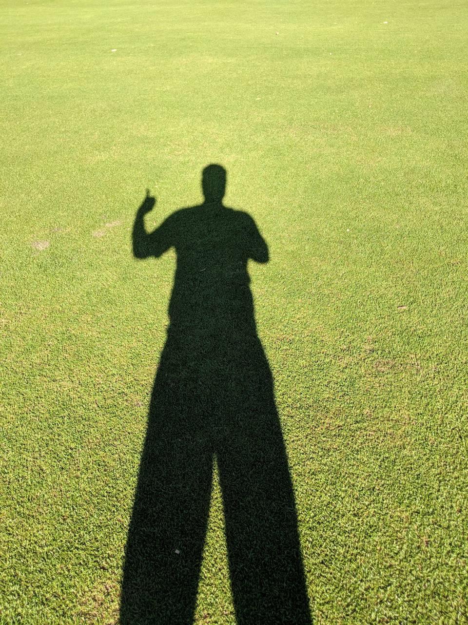 Okay sign shadow