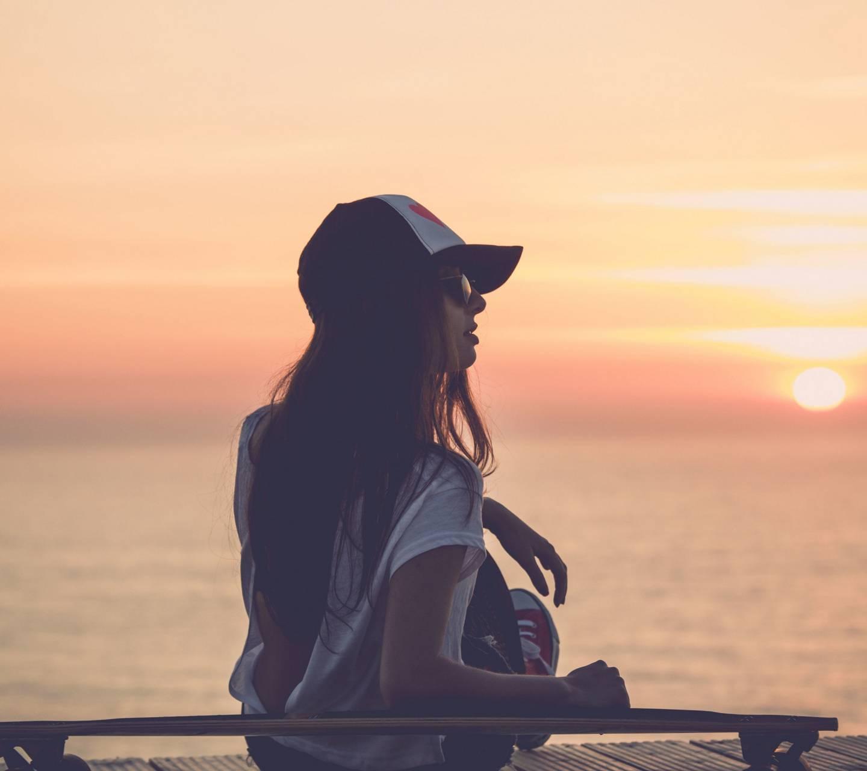 Girl Sea Sunset