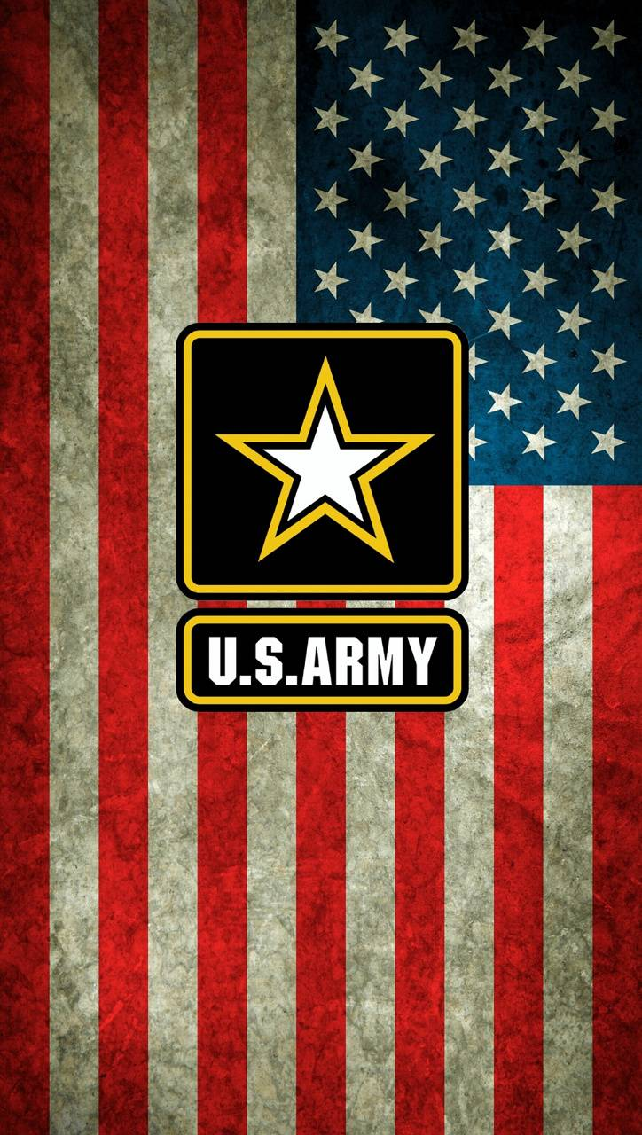 US Flag w Army logo