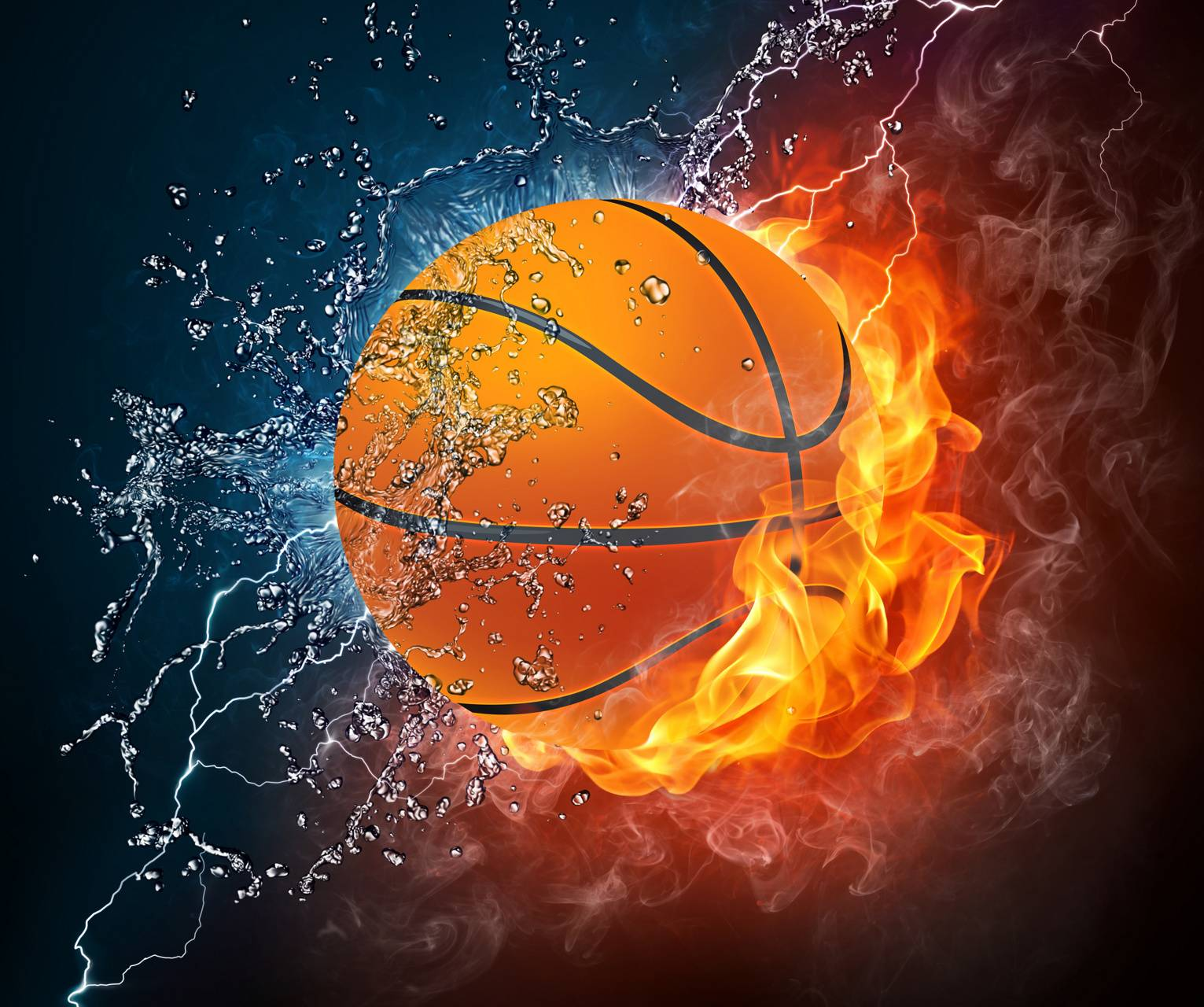 Cool Basketball Wallpapers: Basketball On Fire Wallpaper By Stork002