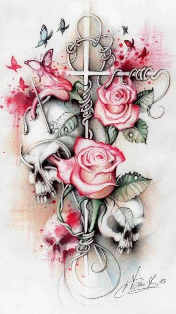 Skull Roses Wallpaper By Nikkilittle A7 Free On Zedge