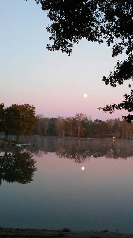 Moonlit sunrise
