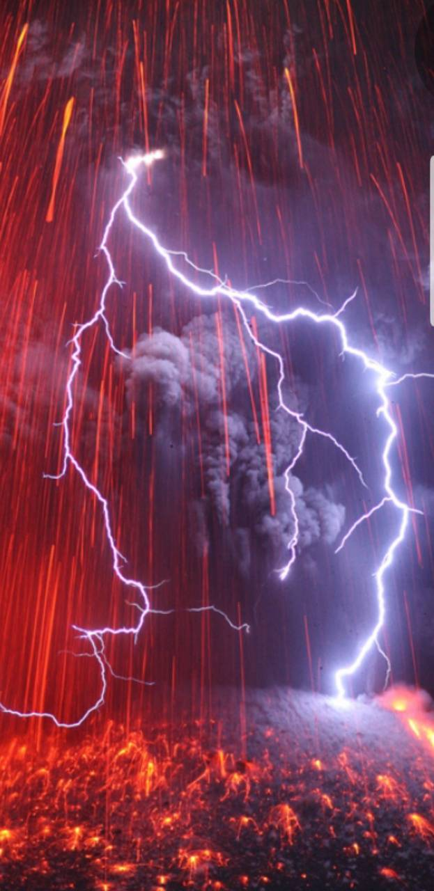 Volcano Lightning Wallpaper By Shaggyshaw 28 Free On Zedge