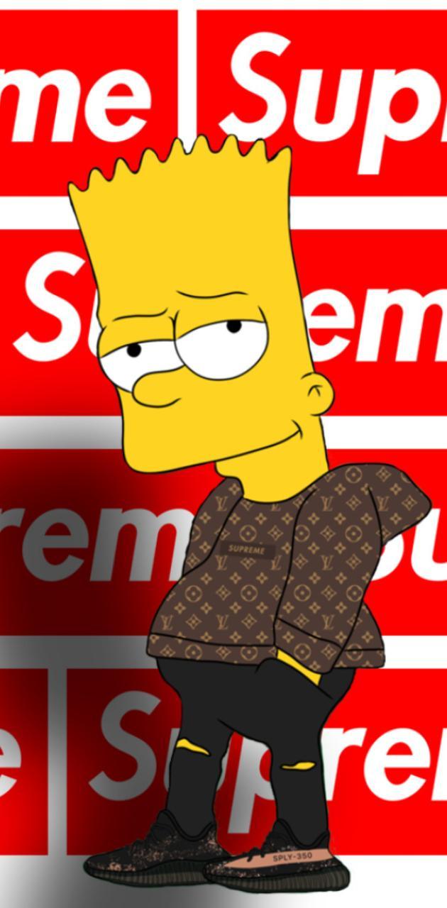 Bart flexing yeezy