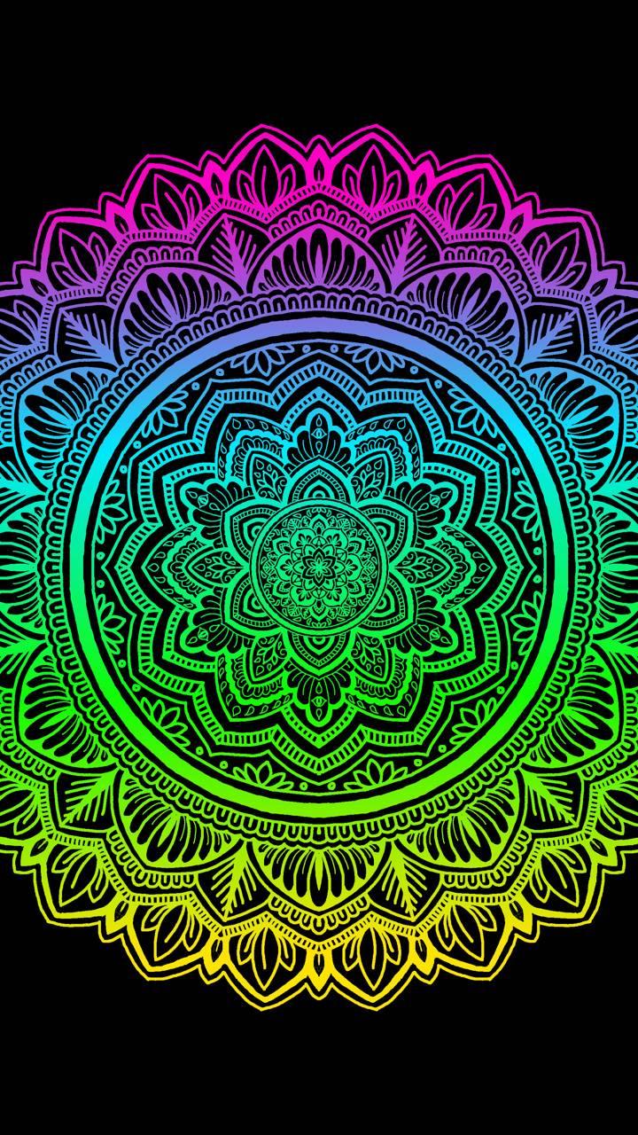 Bright Neon Mandala