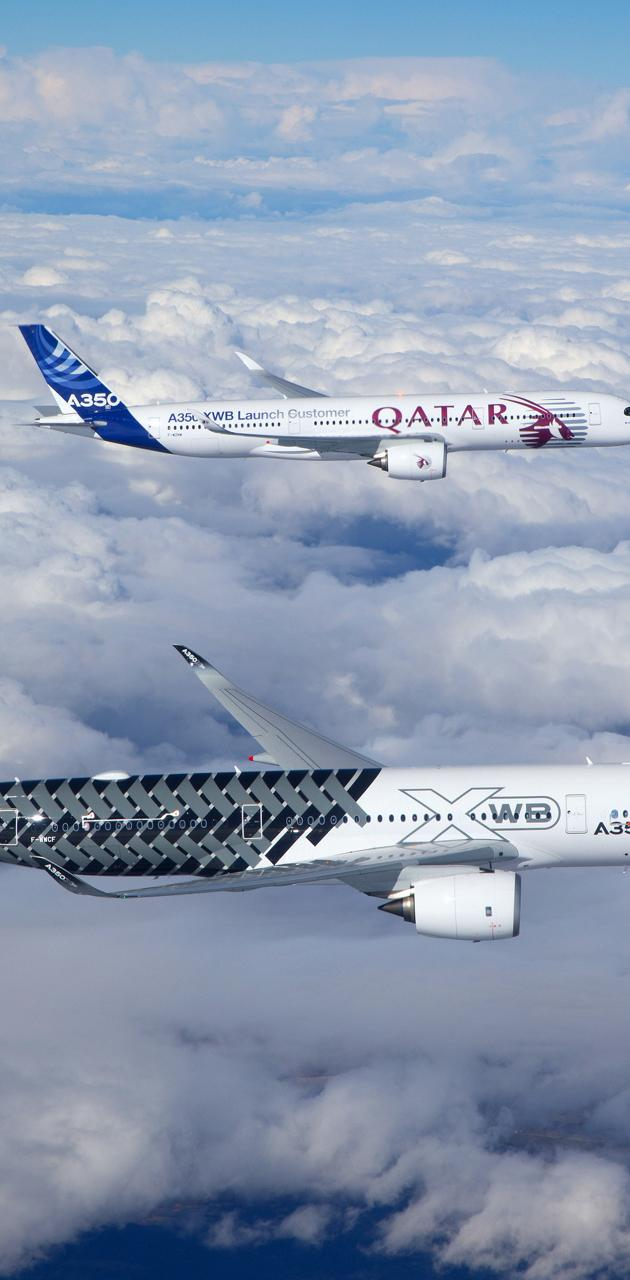 Airbus 350in the sky