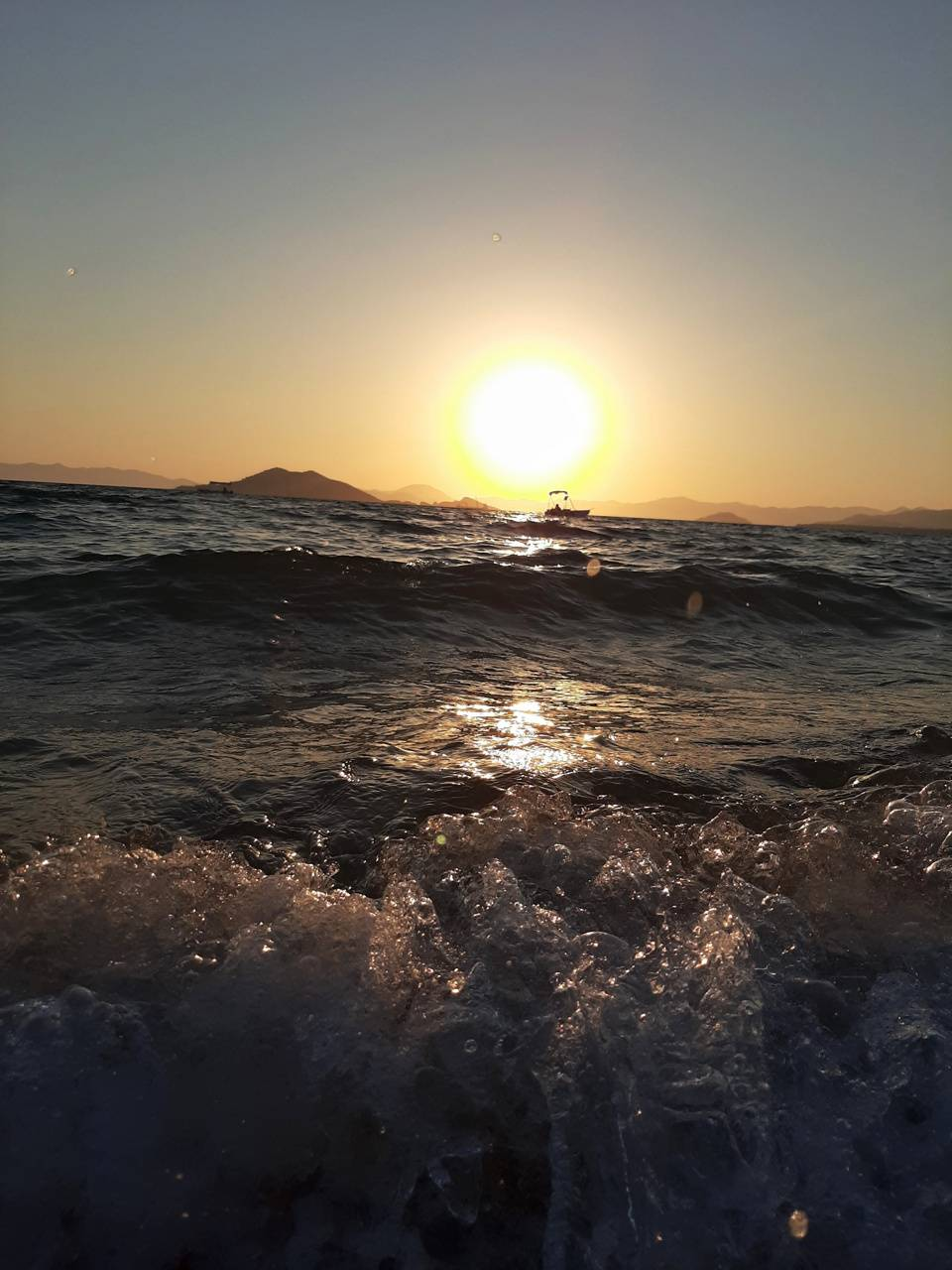Sea nature sunset