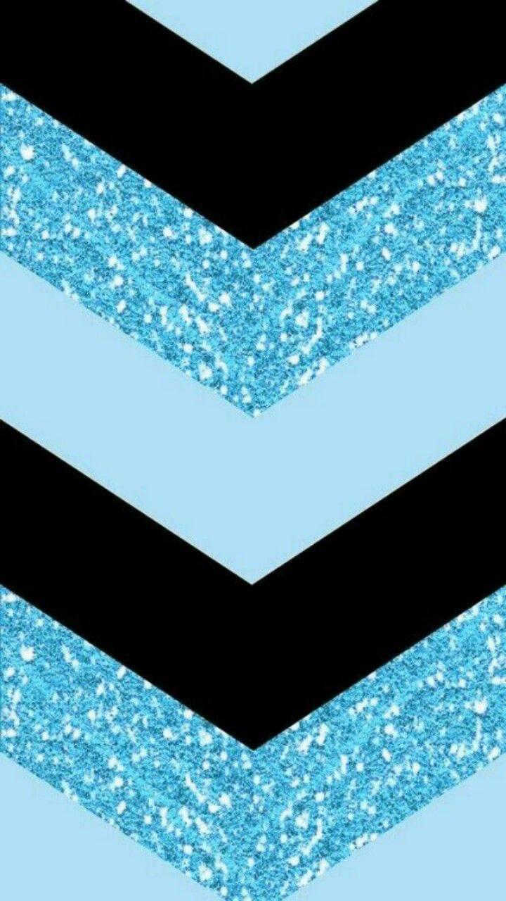 Blue Black Chevron