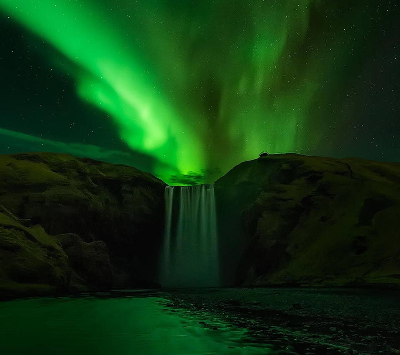 Aurora Waterfall