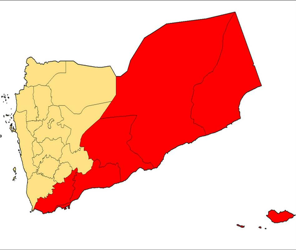 South Yemen Map