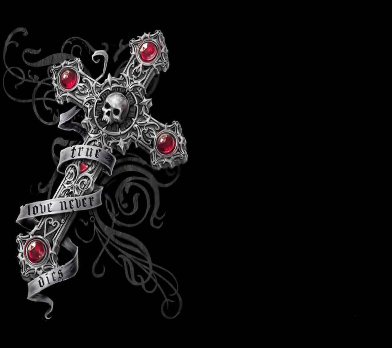 Cross Skull Gothic