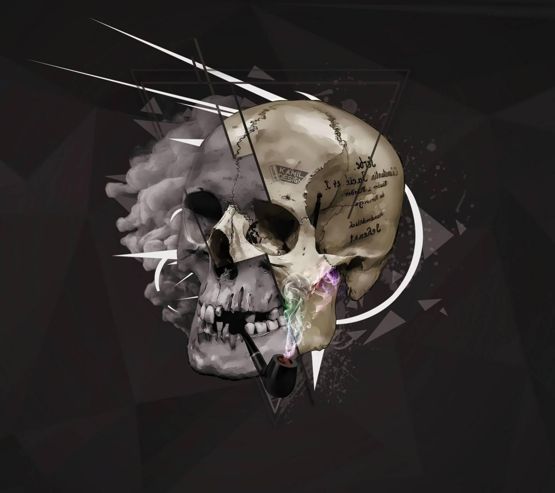 Pipe Skull Art