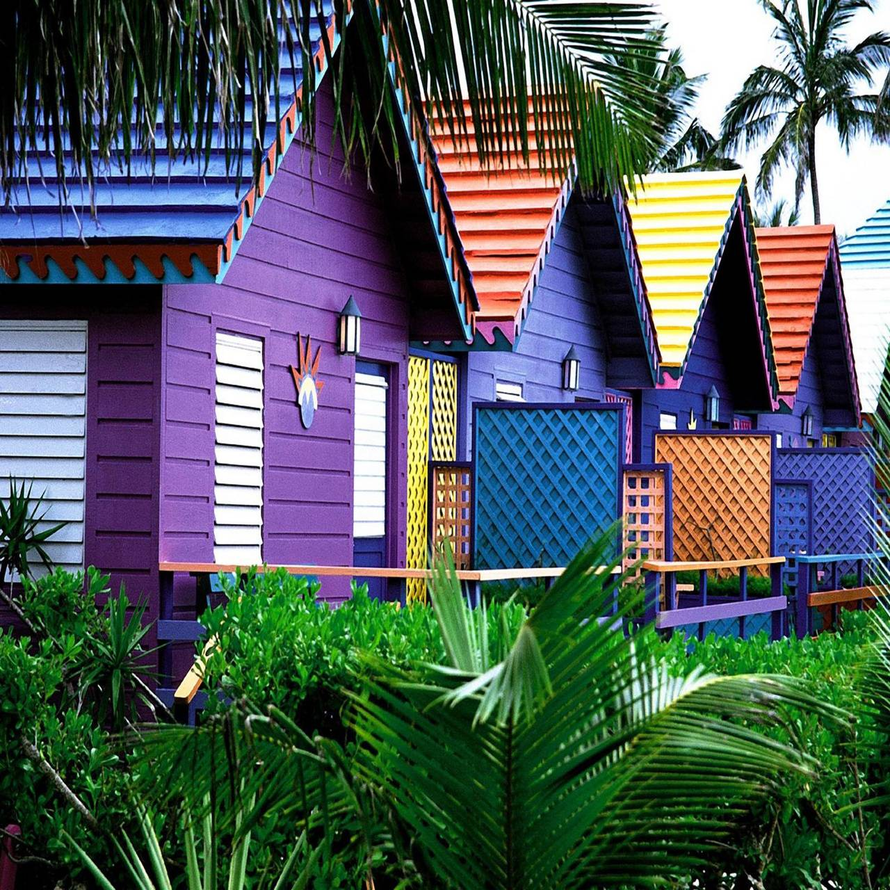 Colorful raw house