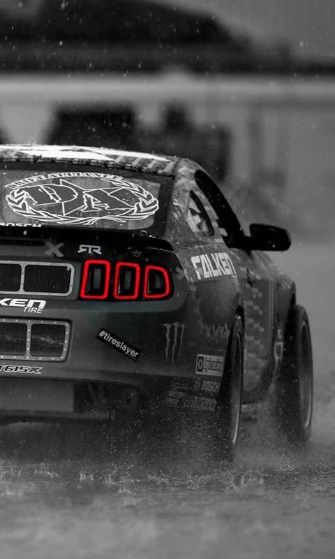 Ford Mustang In Rain
