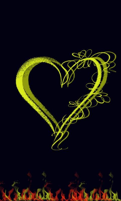 Heart 3d yellow
