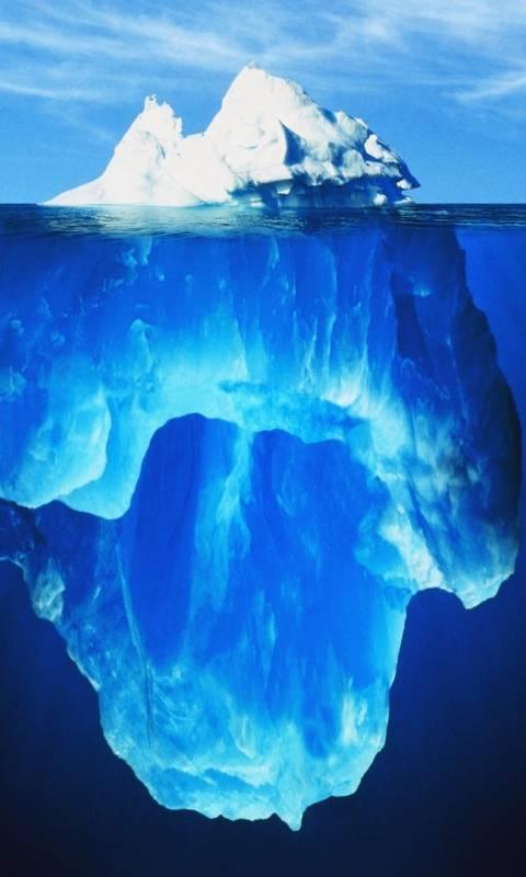 underwater ice burg